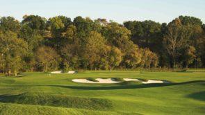 Golf hole at Blue Ridge Shadows Golf Club