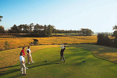 Golf group playing at Riverfront Golf Club